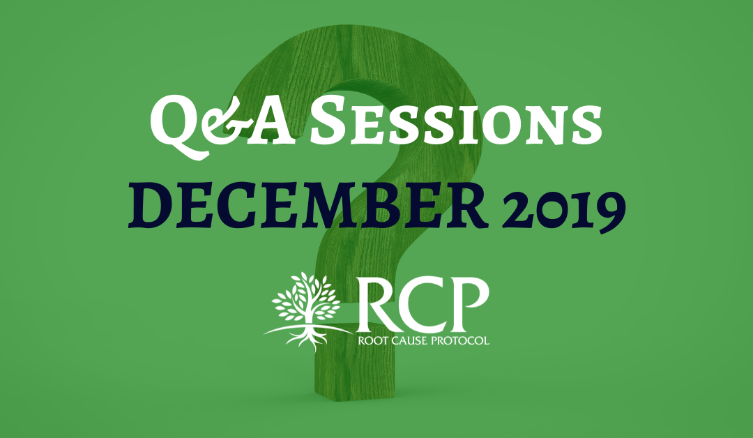 Live Q&A sessions on in December