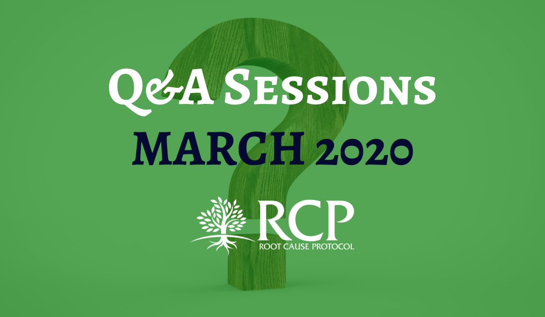 Live Q&A sessions on in March