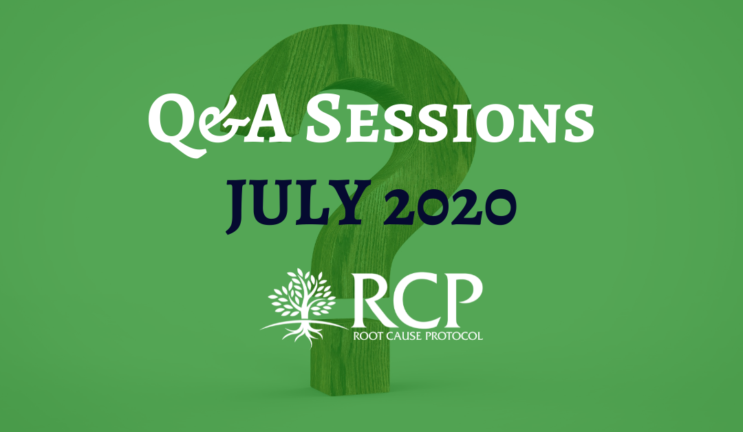 Live Q&A sessions on in July