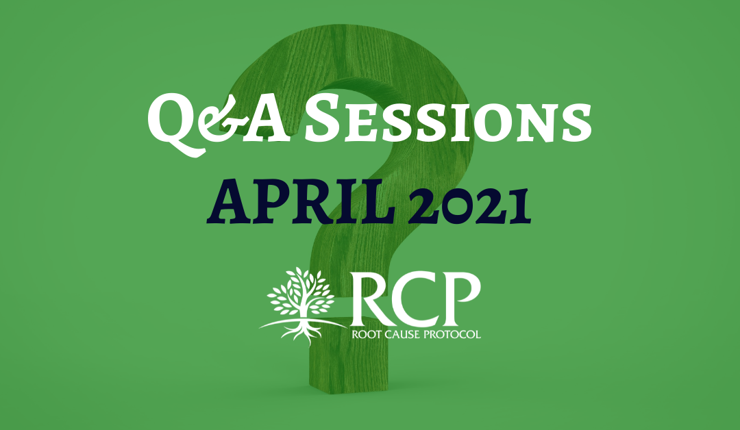 Live Q&A sessions on in April