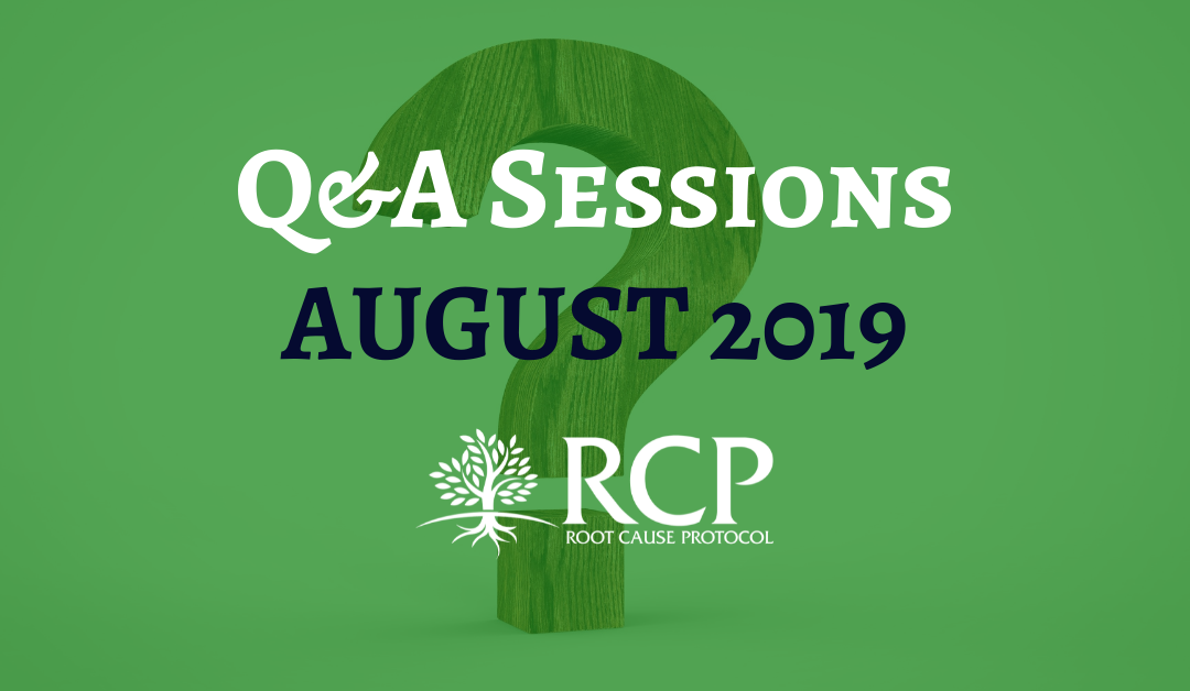Live Q&A sessions on in August 2019