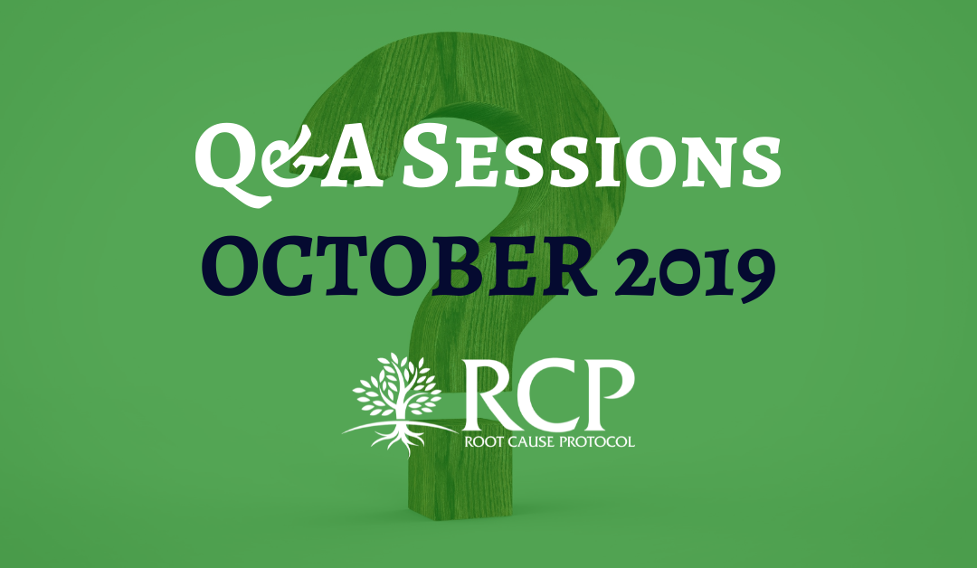 Live Q&A sessions on in October