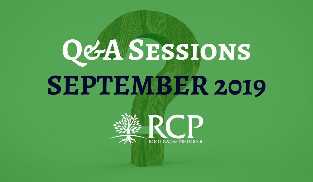 Live Q&A sessions on in September