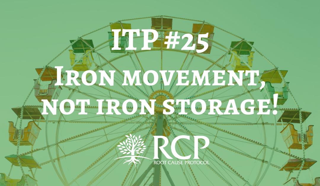 Iron Toxicity Post #25: Iron movement, not iron storage!