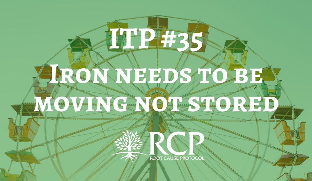 Iron Toxicity Post #35: Mother Nature intends iron to be moving not stored