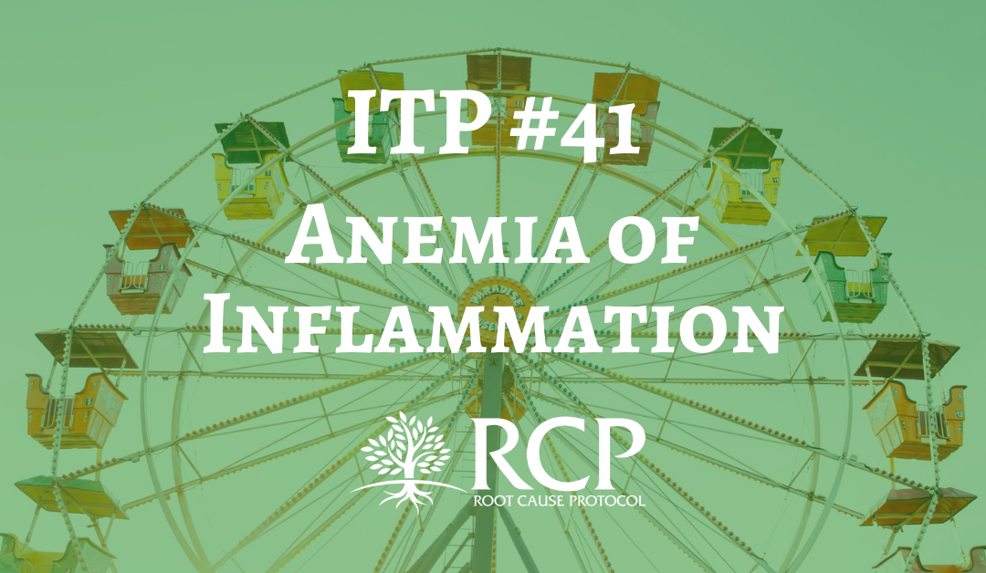 Iron Toxicity Post #41: Anemia of Inflammation and how it relates to anemia
