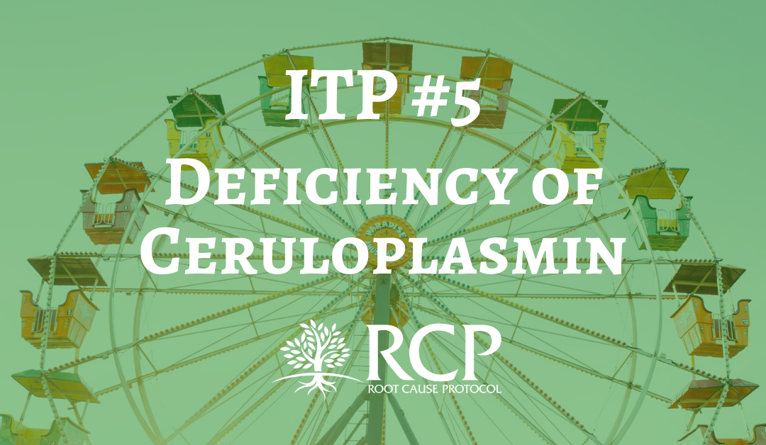 Iron Toxicity Post #5: A deficiency of Ceruloplasmin (Cp) is one of the earliest manifestations of Copper deficiency