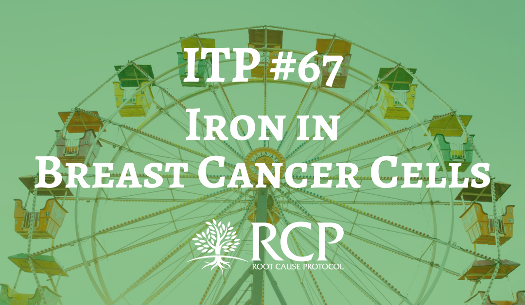 Iron Toxicity Post #67: There is 5 TIMES MORE IRON in breast cancer cells than normal cells