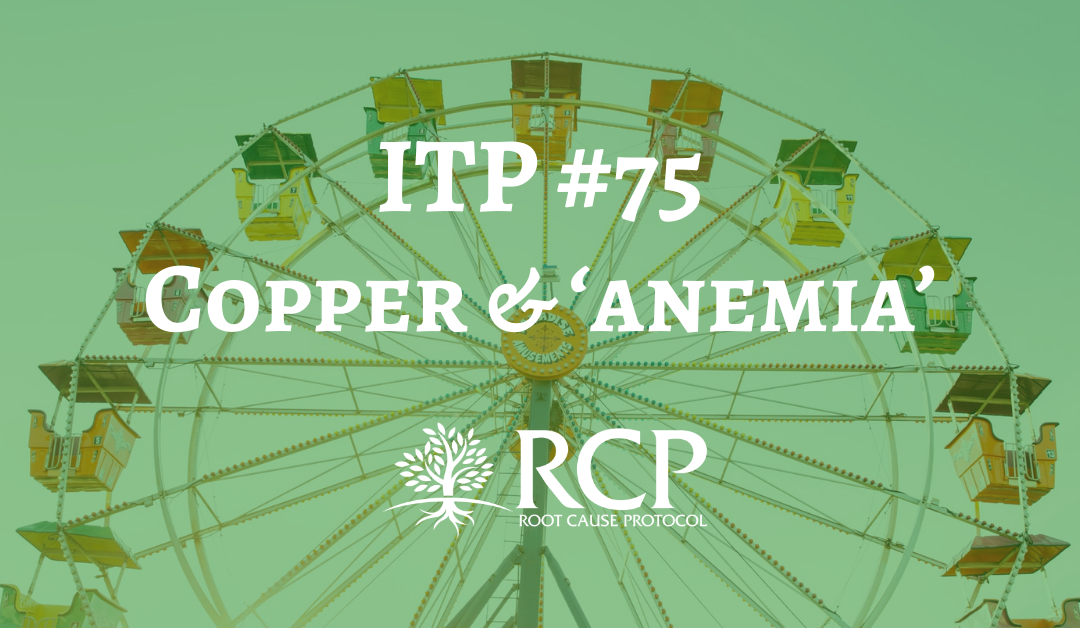 Iron Toxicity Post #75: PROOF that Copper Deficiency is the CAUSE of so-called 'anemia'